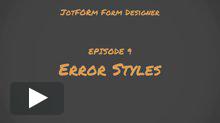 Error Styles Tutorial
