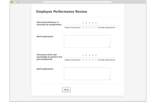 Form: End of Year Employee Performance Review Form
