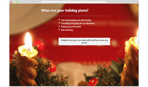 Poll: What are JotForm users up to over the holidays?
