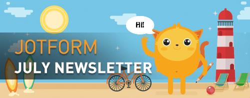 Visual: JotForm July Newsletter