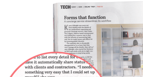 You can now read about JotForm in the Printed June Issue!
