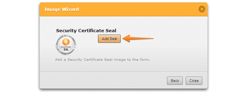 Visual: How to add a Security Certificate Seal to your form