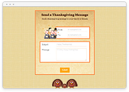 Thanksgiving Message Form
