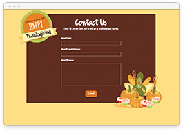 Thanksgiving Contact Form