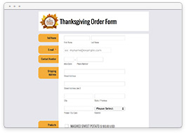Thanksgiving Order Form
