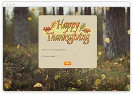 Thanksgiving RSVP Form